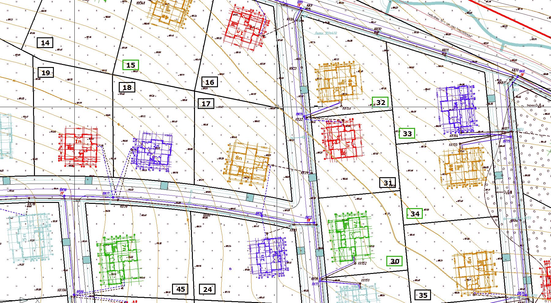 Схема наружных инженерных сетей