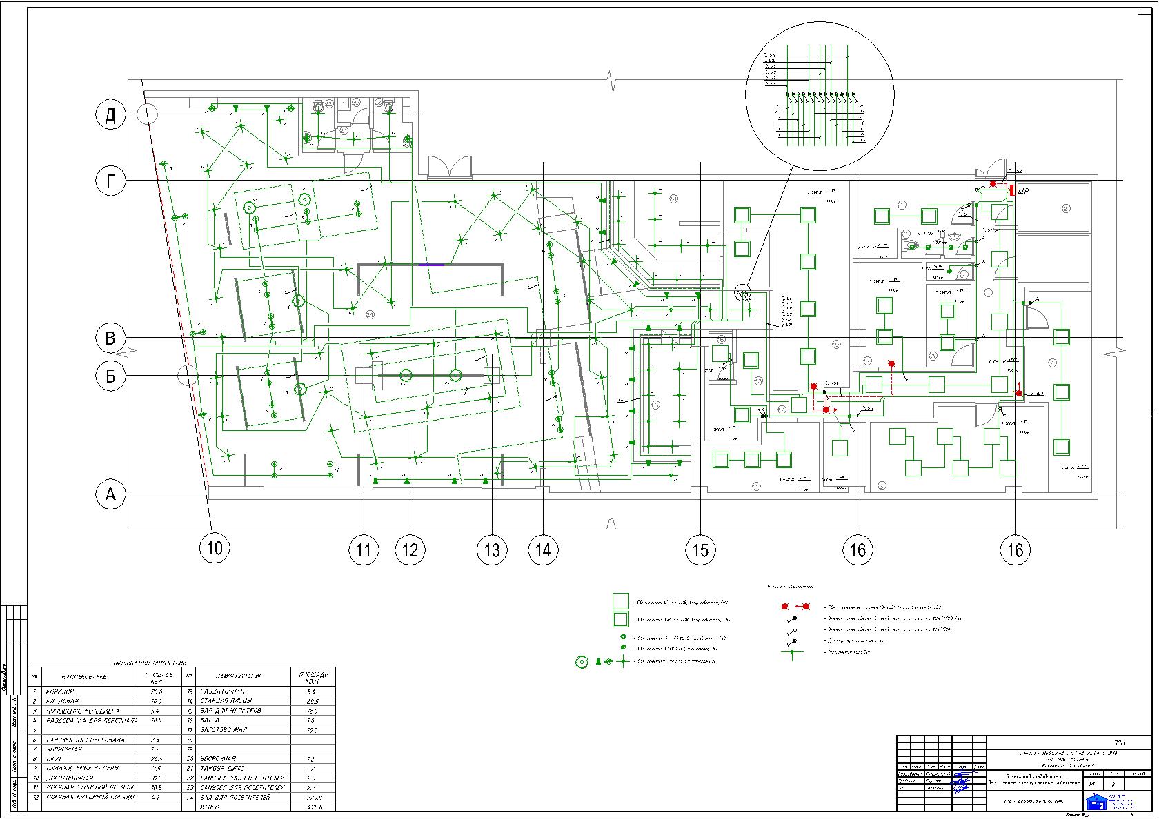 Схема освещения торгового центра